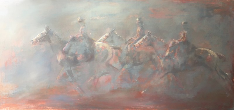 Michelle McCullagh , Three Ladies Galloping