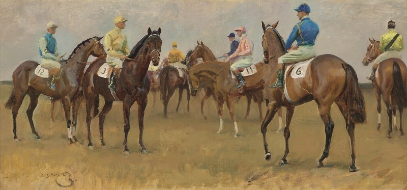 Sir Alfred James Munnings, PRA, RWS, At the Start, Newmarket