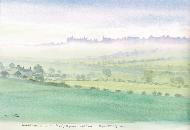 Arundel Castle from Peppering High Barn