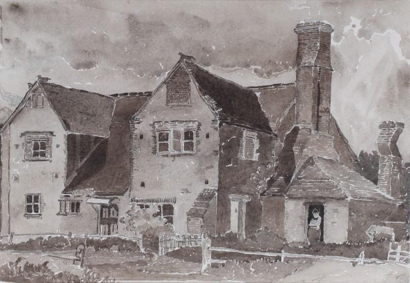 Claude Muncaster , PRSMA, RWS, ROI, RBA, Old Cottage, Bignor, Sussex