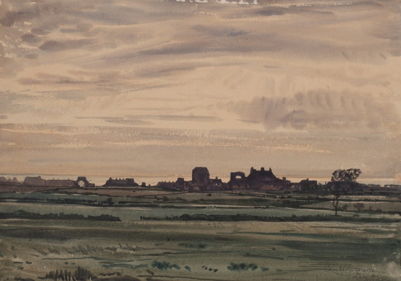 Distant view of ruins, Norfolk