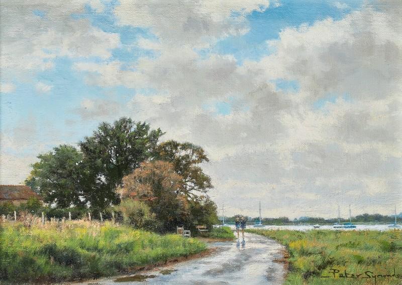 Peter Symonds , The Wet Road, Bosham