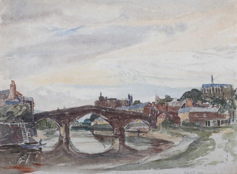 Claude Muncaster , PRSMA, RWS, ROI, RBA, Arundel Bridge