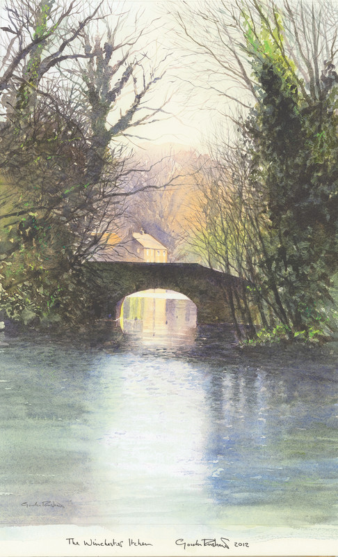 Gordon Rushmer , Winter on the Itchen, Winchester