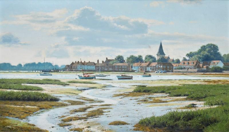 Peter Symonds , Facing the light, Bosham, a later summer afternoon