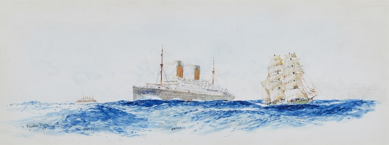 Charles Edward Dixon , White Star Liners 'Majestic' and 'Homeric' on the transatlantic run