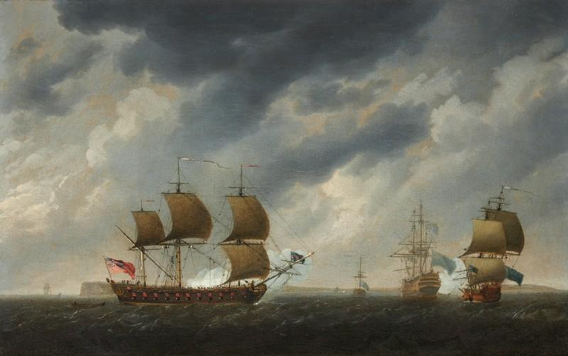 A frigate running along the Solent