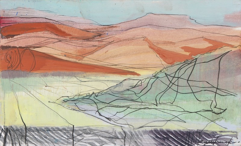Sossusvlei into dusk sketch