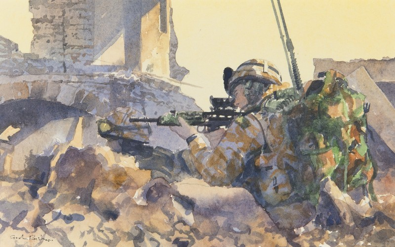 Hard fighting, Royal Marine, 42 Commando, Helmand, Afghanistan