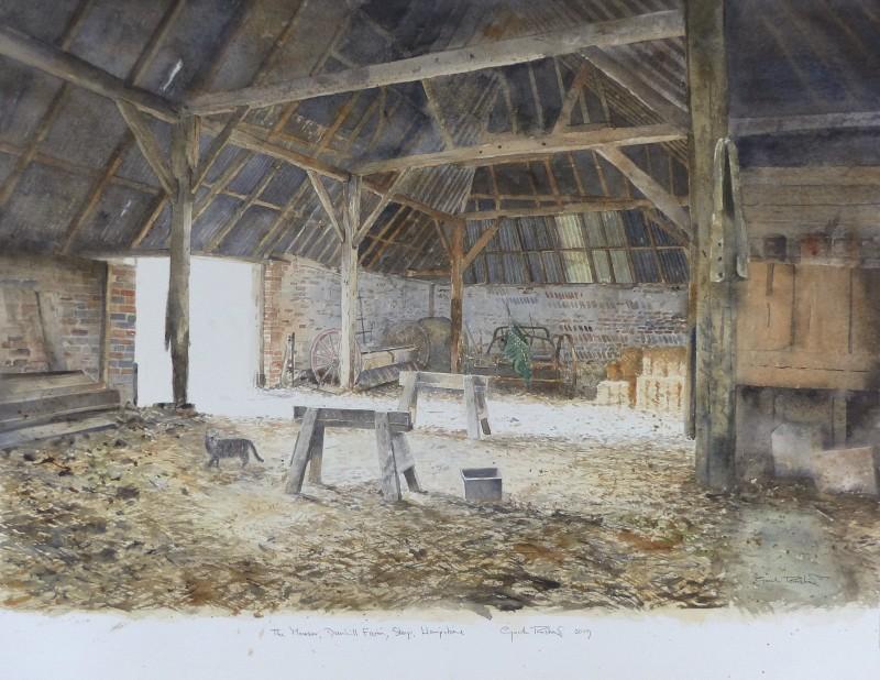 The Mouser, The Black Barn interior, Dunhill Farm, Steep