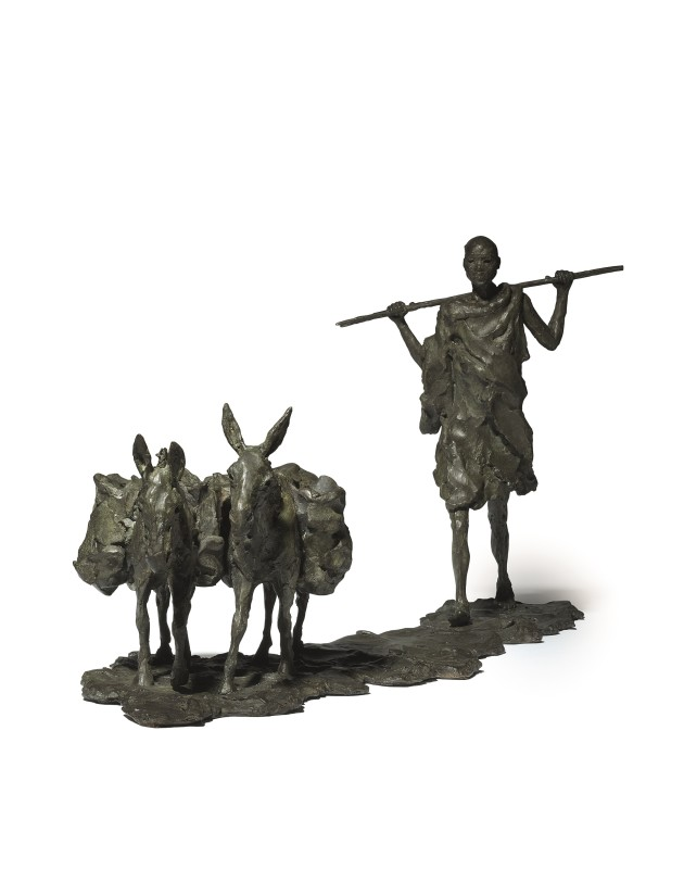 Masaai with Donkeys