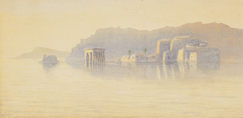 Frederick William Sturge , Philae: Temples at dawn