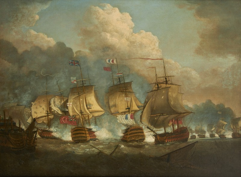 Circle of Nicholas Pocock , The battle of the Glorious 1st June, the two flagships in close action