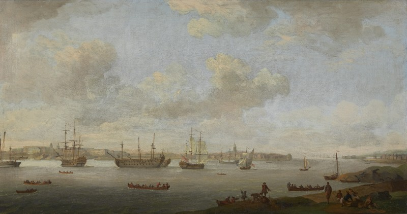 Charles Brooking , A view of Portsmouth Harbour