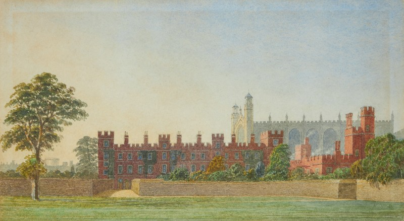 Eton College with the Chapel beyond, evening light