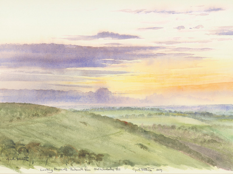 Looking South over old Winchester hill