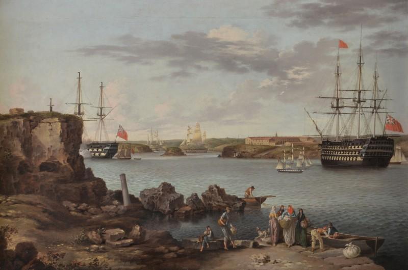 HMS Caledonia in Port Mahon