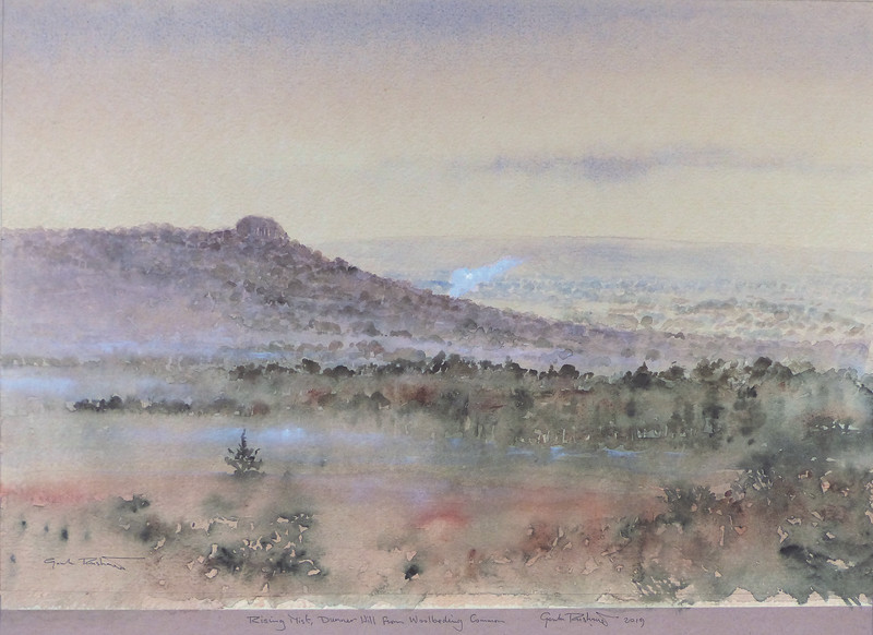 Gordon Rushmer , Rising Mist, Dunner Hill from Woolbeding Common