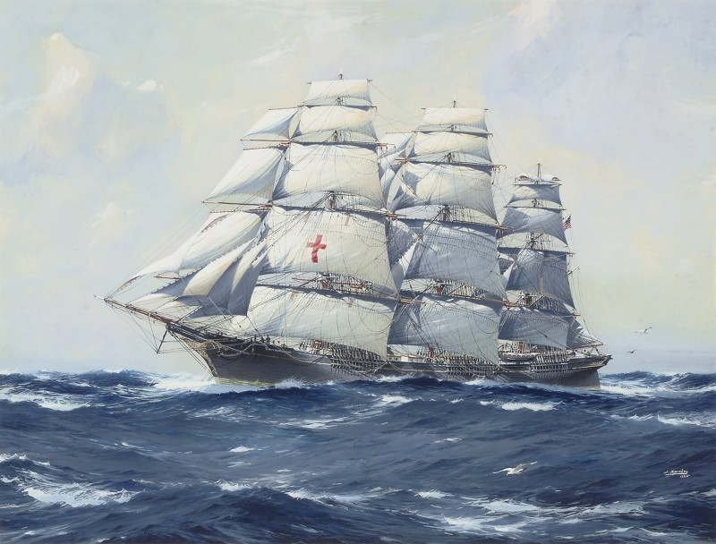 The Yankee packet, Dreadnought in full sail