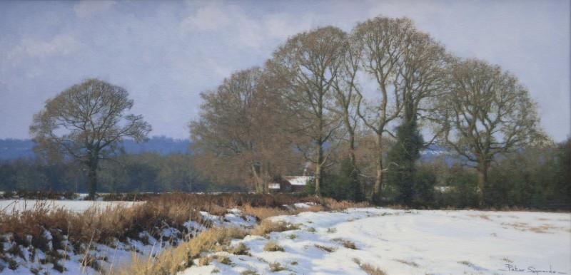 Peter Symonds , A Winter landscape, the Surrey Hills