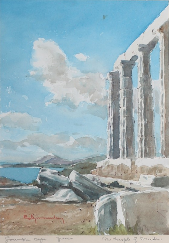 Temple of Poseidon at Sounion Cape, Greece