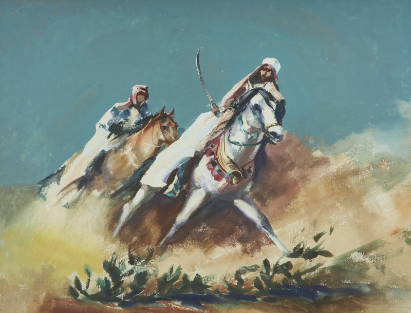 Galloping Berber Horsemen