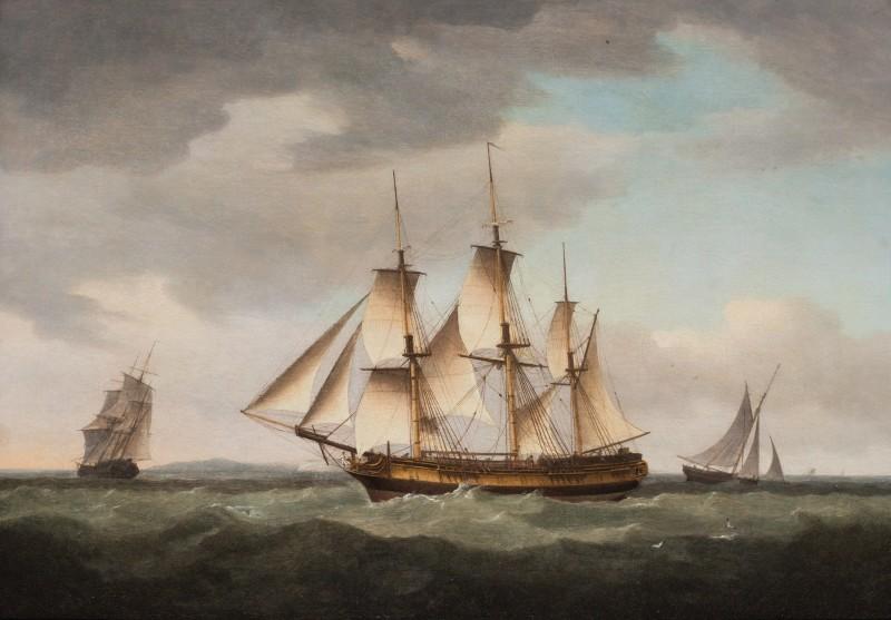 A merchantman in the Channel