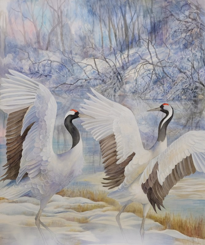 Emma Faull , Japanese cranes