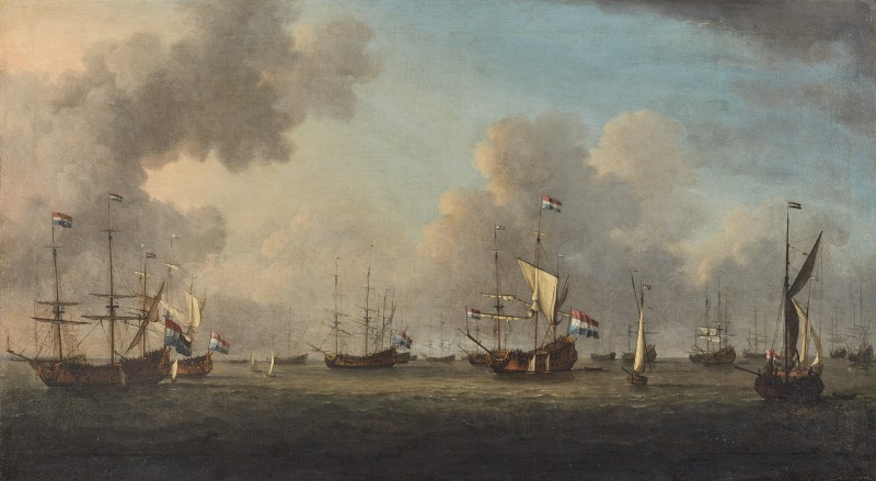 Admiral Wassenaer Obdam's fleet at anchor