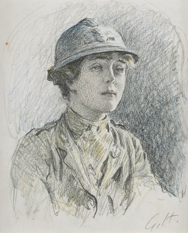 Gilbert Holiday , Sadie Bonnell, of the First Aid Nursing Yeomanry, July 1918