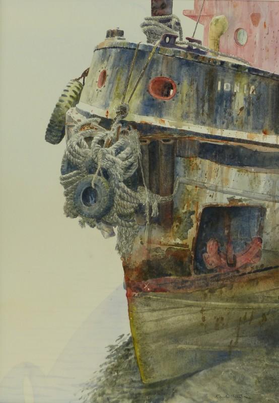 Gordon Rushmer , The Tug 'Ionia', Bideford