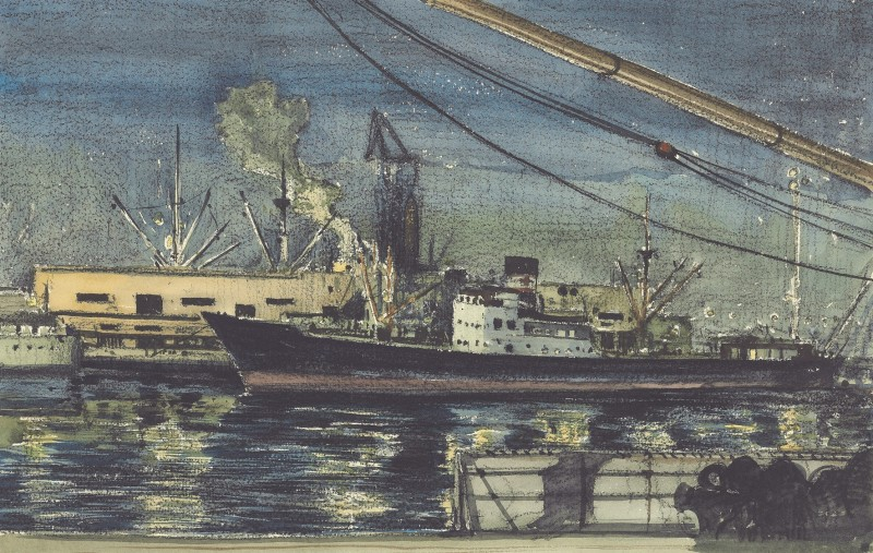 Night Study: Genoa Docks