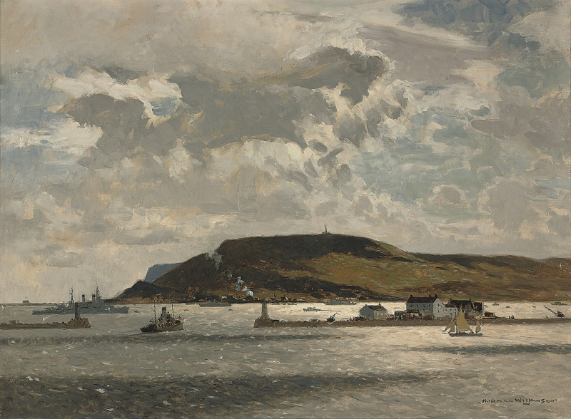 Ships of the Royal Navy off Little Cumbrae, Firth of Clyde
