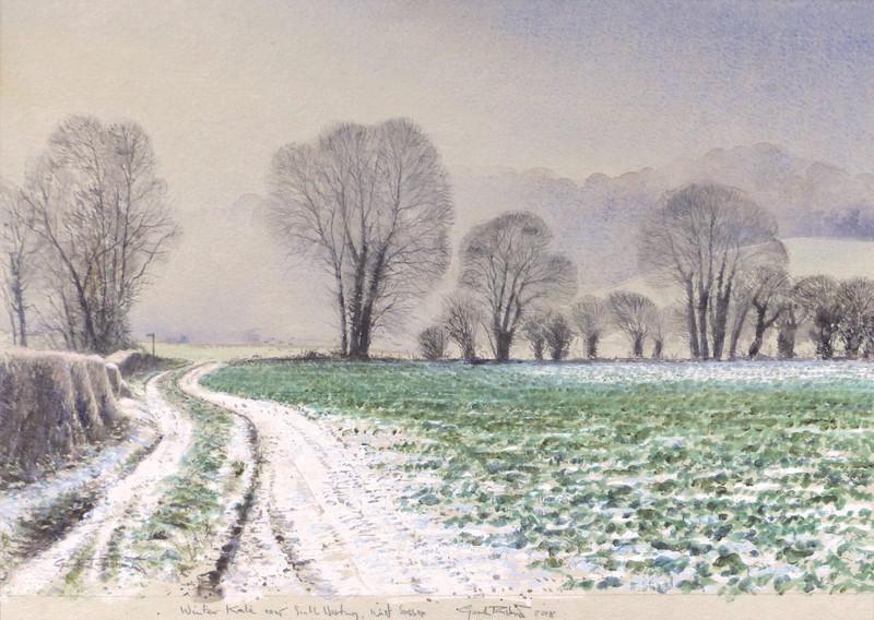 Gordon Rushmer , Winter Kale, near South Harting