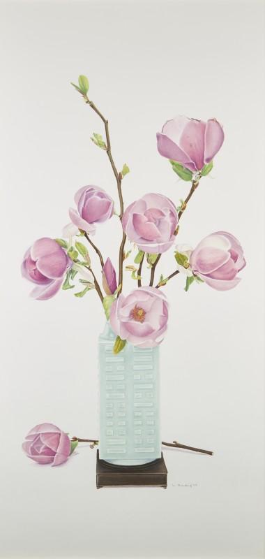 RusticaRubra in a Celadon vase