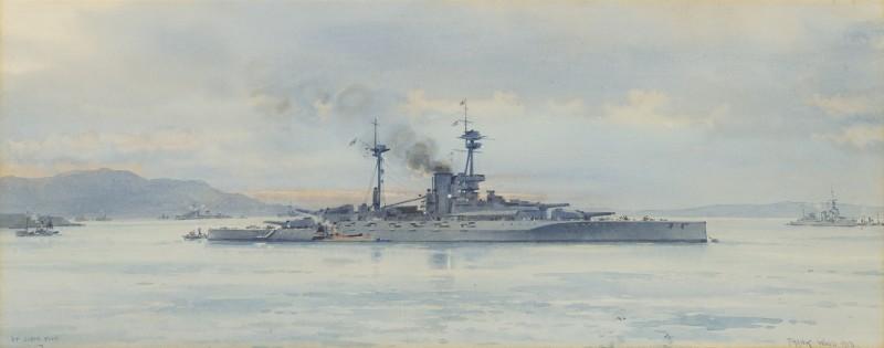 The battleship Revenge in Scapa Flow, 1918