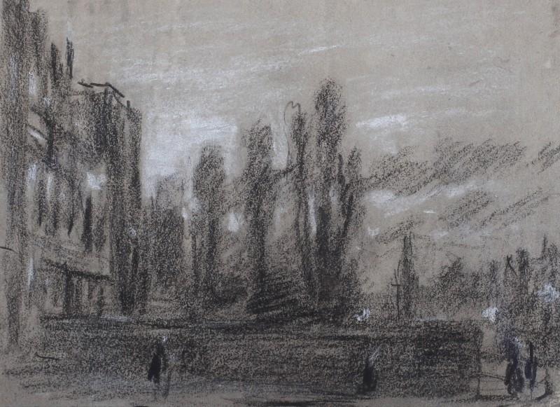 George James Rowe , Sketch of a London Street