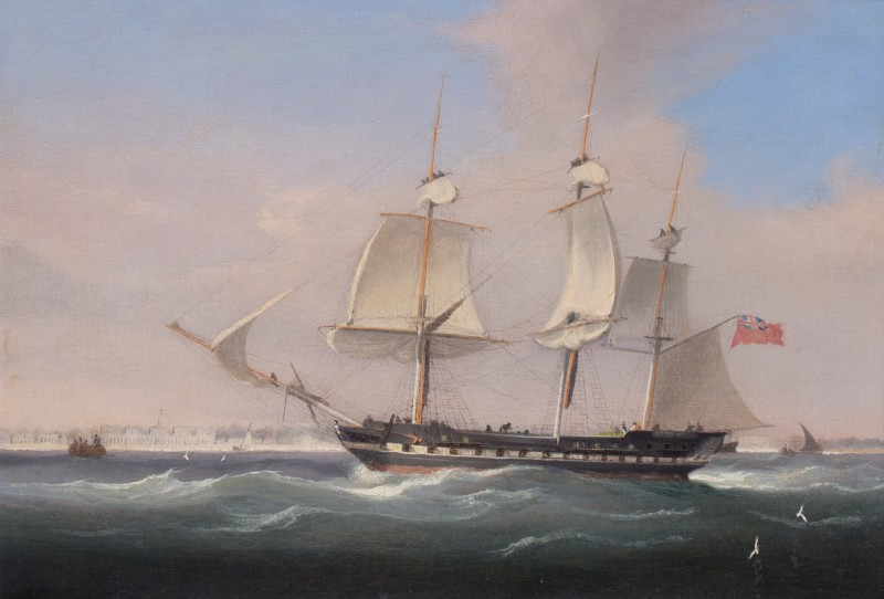 An East Indiaman off Singapore