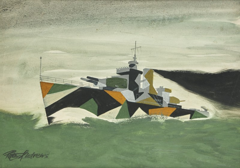 Peter Andrews , A destroyer in dazzle camouflage