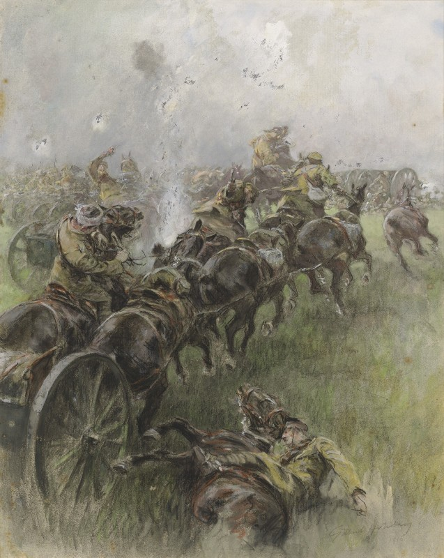 Gilbert Holiday , Under fire on the Western Front, 1915