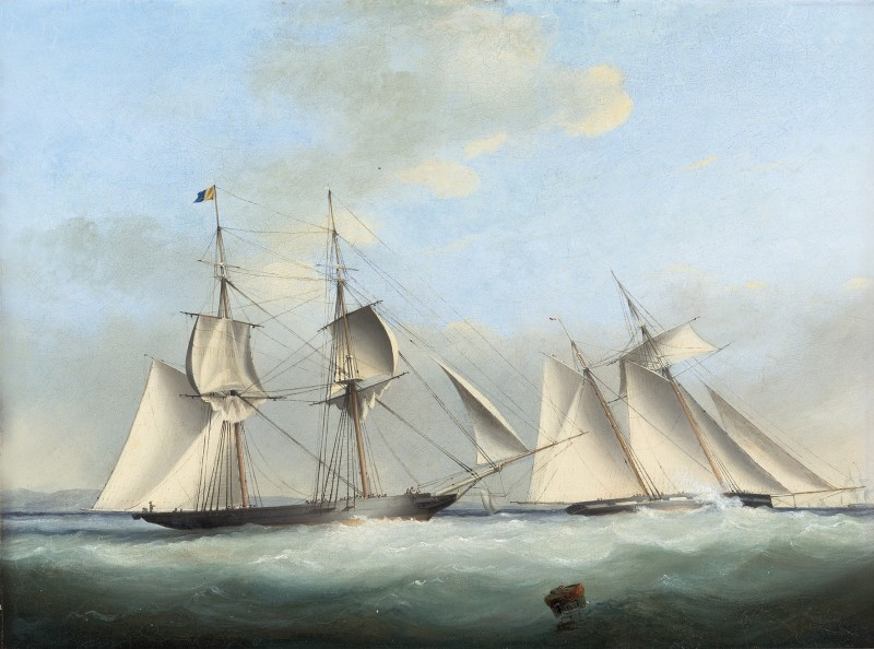 Nicholas Matthew Condy , The celebrated '1000-guinea match' between Lord Belfast's brig Waterwich and Mr Talbot's schooner Galatea in September 1834