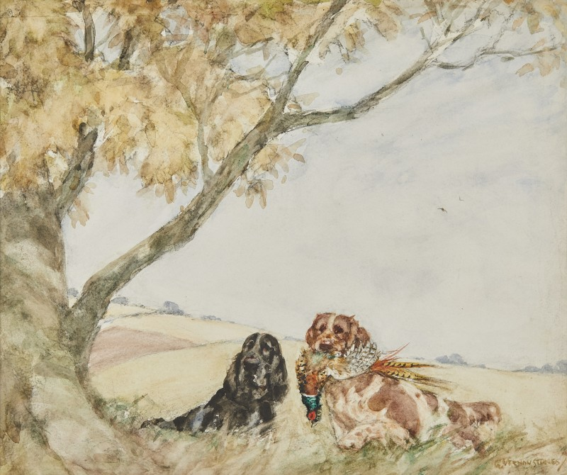 George Vernon Stokes , Spaniels at work