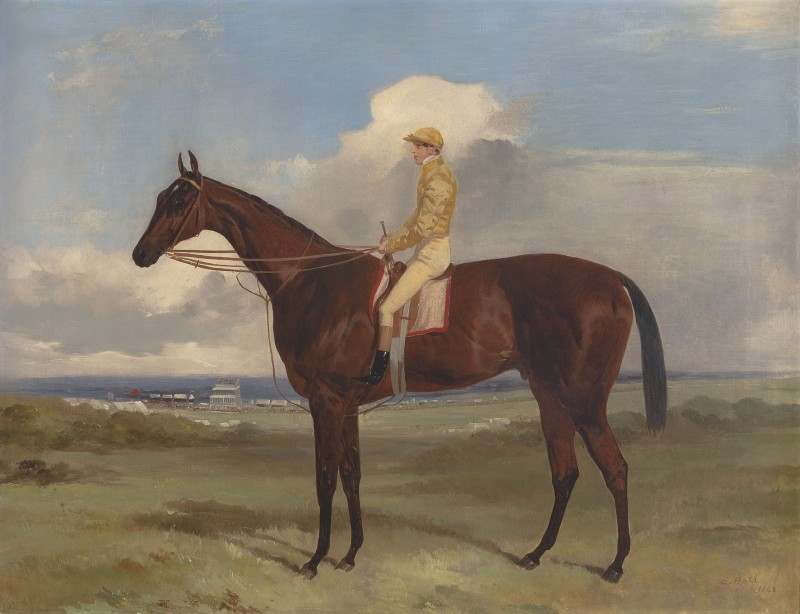 Lord Clifden's 'Surplice' , winner of The Derby and St. Leger, 1848. S.Templeman Esq. up.