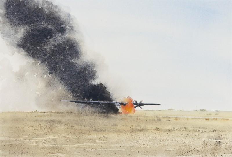 C130 Hercules hitting IED, Bost, Helmand, Afghanistan