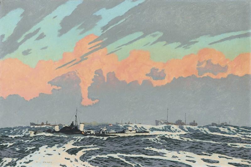 A British naval convoy