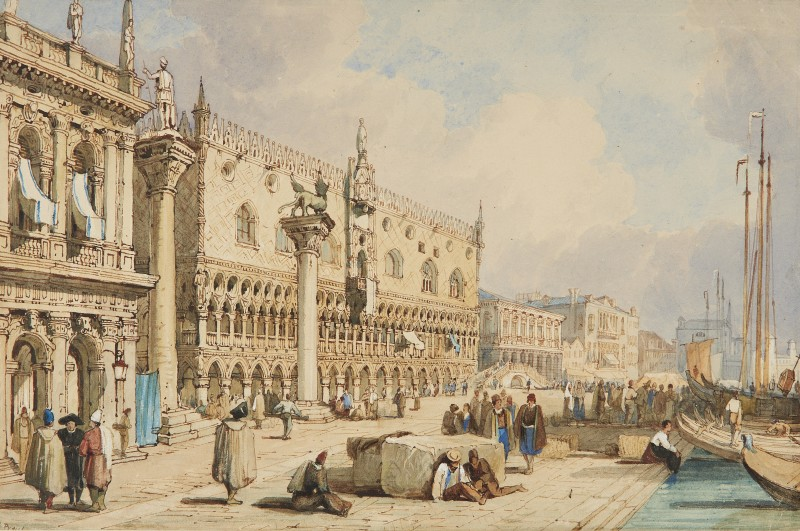 School of Samuel Prout , St Marks' Square and the Palazzo Ducale, Venice
