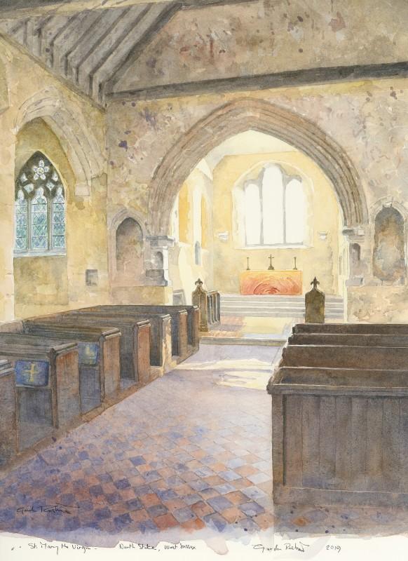 Gordon Rushmer , Interior, St. Mary the Virgin, North Stoke