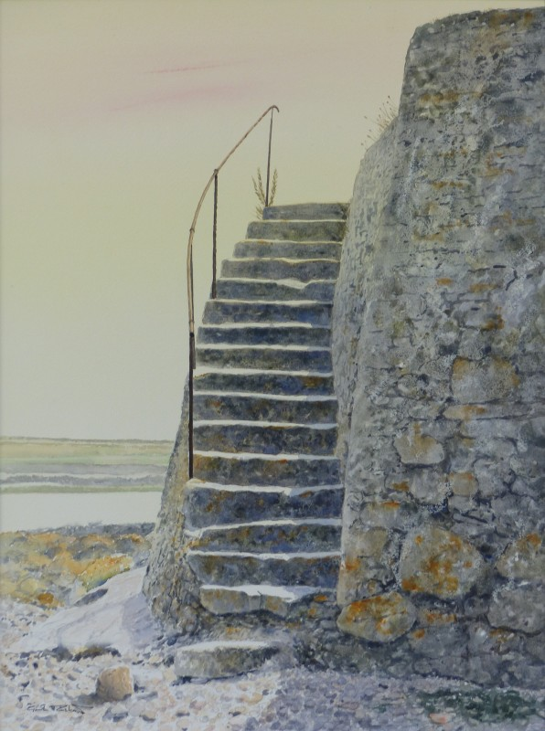 Stairway to heaven, the Church of St. Cwyfan, Anglesey