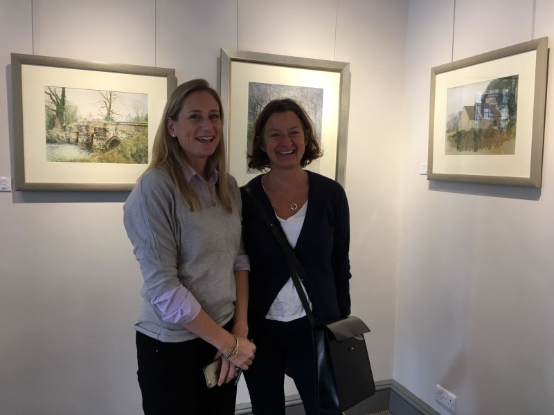 Chantelle Rountree with Sally Blackburn, Marketing and Events Manager at Cowdray Estate