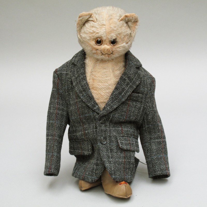 Charming miniature tweed jacket.
